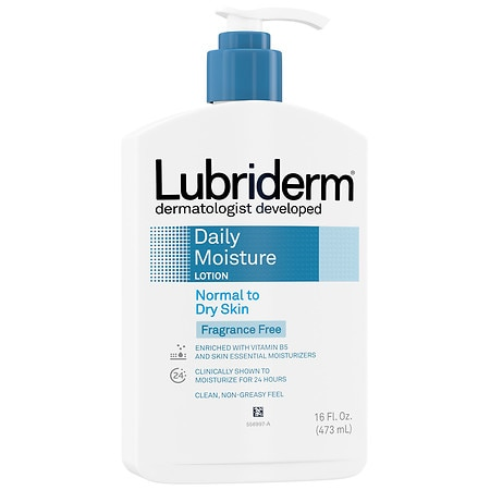 Lubriderm Fragrance Free Lotion, For Normal to Dry Skin - 16 fl oz