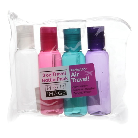 Mon Image 3 oz Travel Bottle Pack, Set of 4 - 1 set