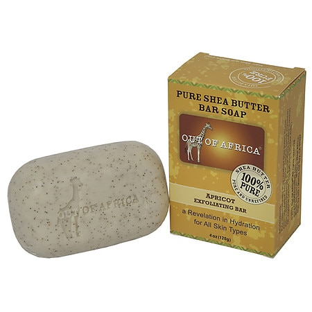 Out Of Africa Organic Shea Butter Bar Soap Apricot Exfoliating Bar