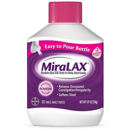 MiraLAX Polyethylene Glycol 3350 Unflavored - 17.9 oz.