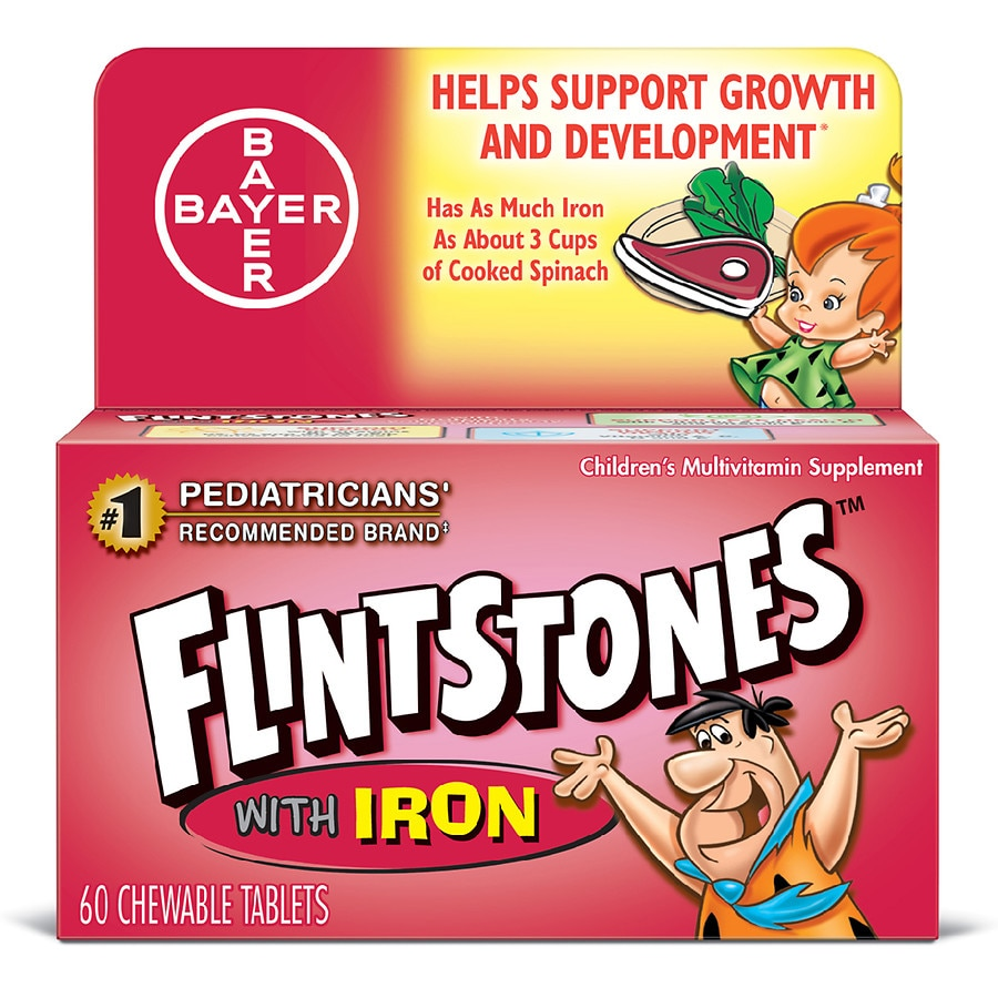Image result for flintstone vitamins plus iron