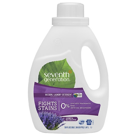 Seventh Generation Natural Liquid Laundry Detergent, 2X Concentrated, 33 Loads Blue Eucalyptus & Lavender