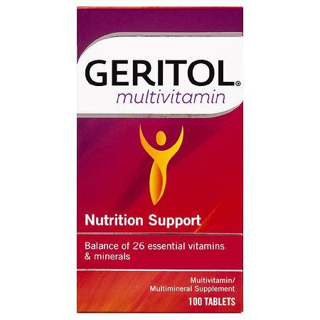 Geritol Complete Multivitamin Mineral Supplement, Tablets - 100 ea