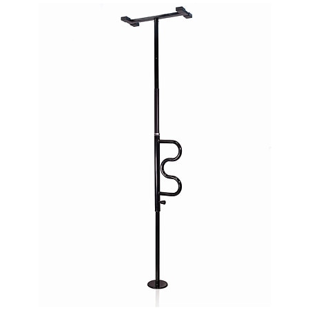 Stander Safety Security Pole & Curve Grab Bar Black