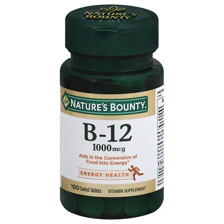 Nature's Bounty Vitamin B-12, 1000mcg, Tablets - 100 ea