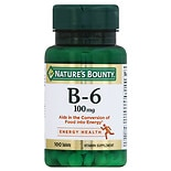 Nature's Bounty Vitamin B-6 100 mg, Tablets