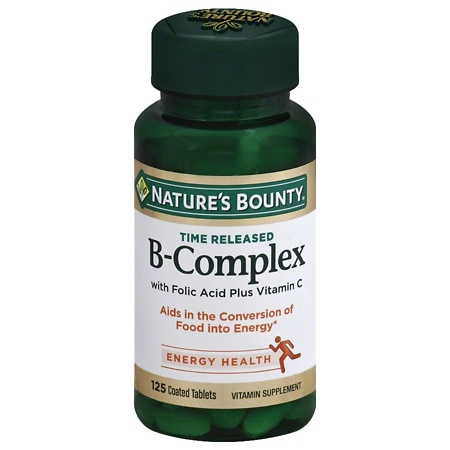 Nature's Bounty B-Complex plus Vitamin C Dietary Supplement Tablets - 125.0 ea