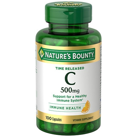 Nature's Bounty Time Release Vitamin C-500mg, Capsules - 100 ea