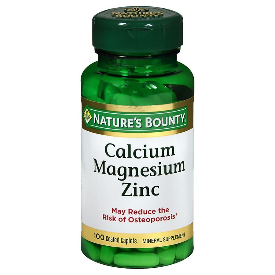 Nature S Bounty Calcium Magnesium Zinc Tablets Walgreens