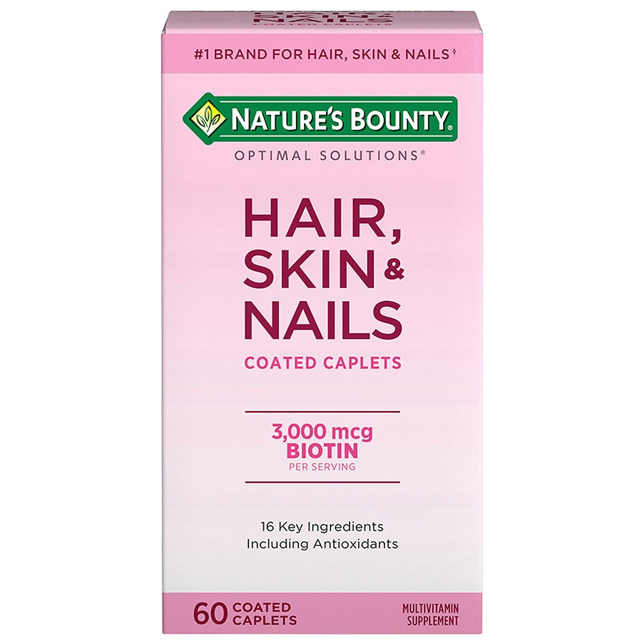 Nature\'s Bounty Optimal Solutions Hair, Skin & Nails, Tablets ...