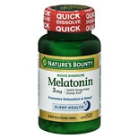 Nature's Bounty Melatonin 3 mg Dietary Supplement Tablets