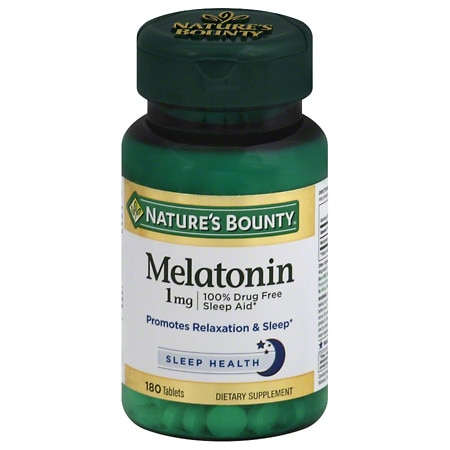 Nature's Bounty Melatonin 1 mg Dietary Supplement Tablets - 180 ea