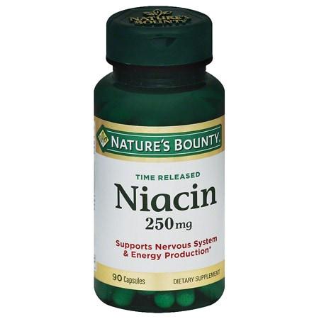 Nature's Bounty Niacin 250 mg Dietary Supplement Capsules - 90 ea