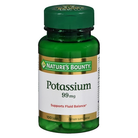 Nature's Bounty Potassium Gluconate 99mg, Caplets