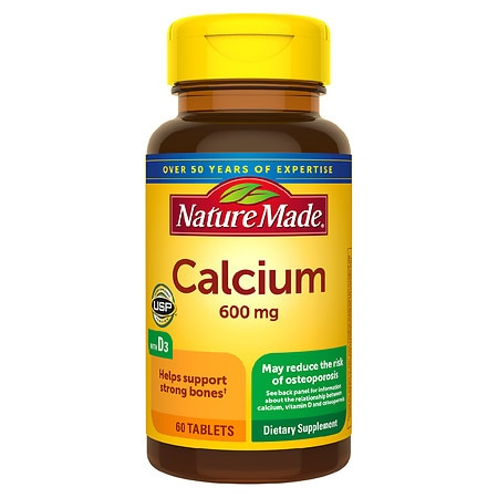 Nature Made Calcium with Vitamin D, 600mg, Tablets - 60 ea
