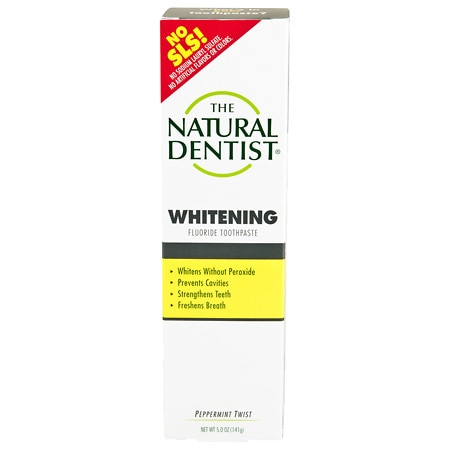 The Natural Dentist Healthy Teeth & Gums Whitening Plus Toothpaste Peppermint Twist