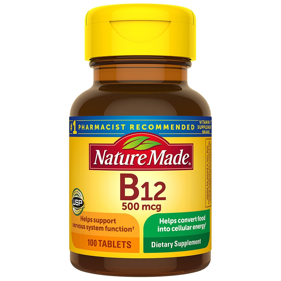 nature made vitamin b 12 500 mcg dietary supplement tablets walgreens. Black Bedroom Furniture Sets. Home Design Ideas