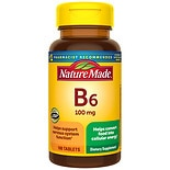 Nature Made Vitamin B-6 100 mg Dietary Supplement Tablets