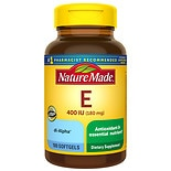 Nature Made Vitamin E 400 IU Dietary Supplement Liquid Softgels