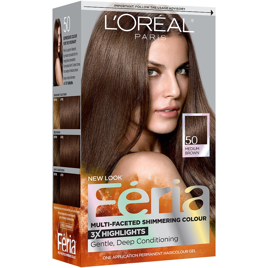 Loreal Paris Feria Permanent Hair Colorhavana Brown 50 Walgreens