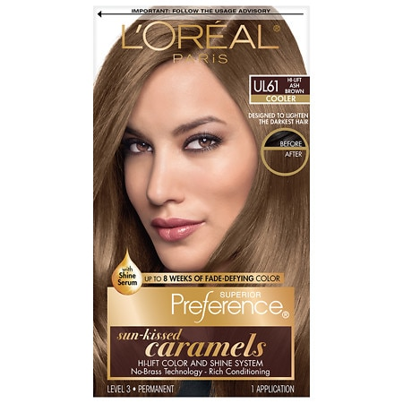 ... Brunettes Permanent Hair Color Ultra Light Ash Brown UL 61 | Walgreens