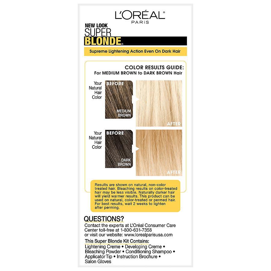 L Oreal Paris Super Blonde Creme Lightening Bleach Blonde Walgreens