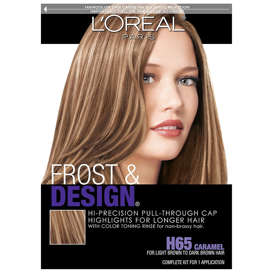 L Oreal Paris Frost Design Cap Hair Highlights For Long Hair H65 Caramel Walgreens