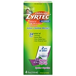 Children's Zyrtec Allergy Syrup, Sugar Free Grape