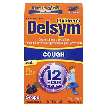 Delsym Children's Cough Suppressant, 12 Hour Grape - 3 fl oz