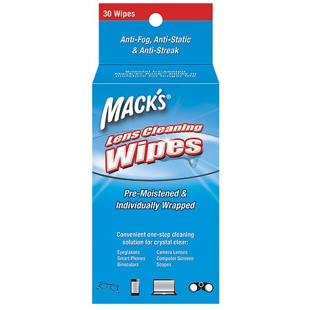 Mack's Lens Wipes Cleaning Towelettes - 30.0 ea