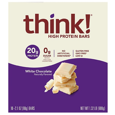 thinkThin High Protein Bars White Chocolate - 2.1 oz. x 10 pack