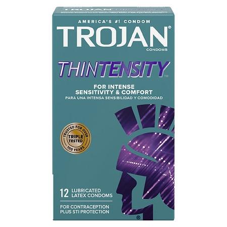 Trojan Lubricated Latex Condoms, Thintensity UltraSmooth -