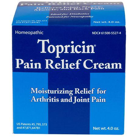 Topricin Anti-Inflammatory Pain Relief Cream Jar - 4 oz.