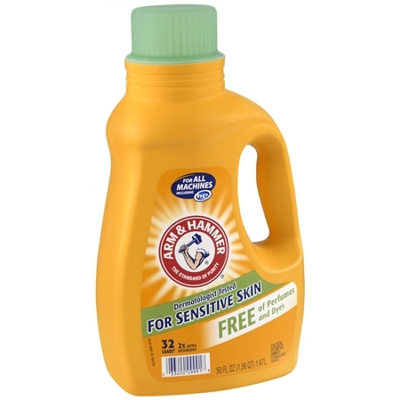 Arm & Hammer Laundry Detergent 2x Concentrate, Free of Perfumes & Dye, 32 Loads Unscented