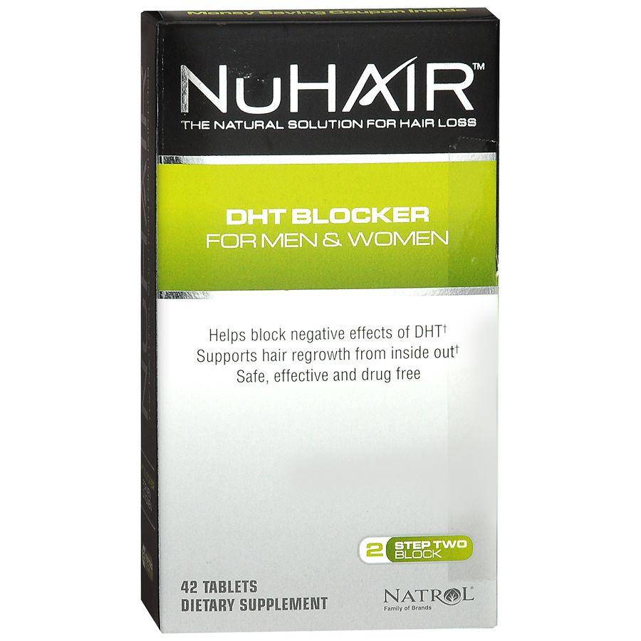 NuHair DHT Blocker Dietary Supplement Tablets for Men & Women42ea