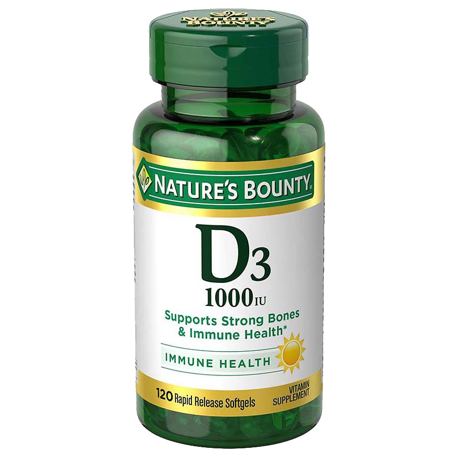 Nature S Bounty D3 1000 Iu Dietary Supplements Softgels Walgreens