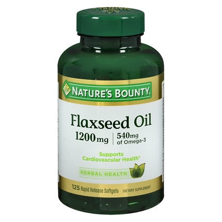 Nature's Bounty Flaxseed Oil 1200 mg Dietary Supplement Softgels