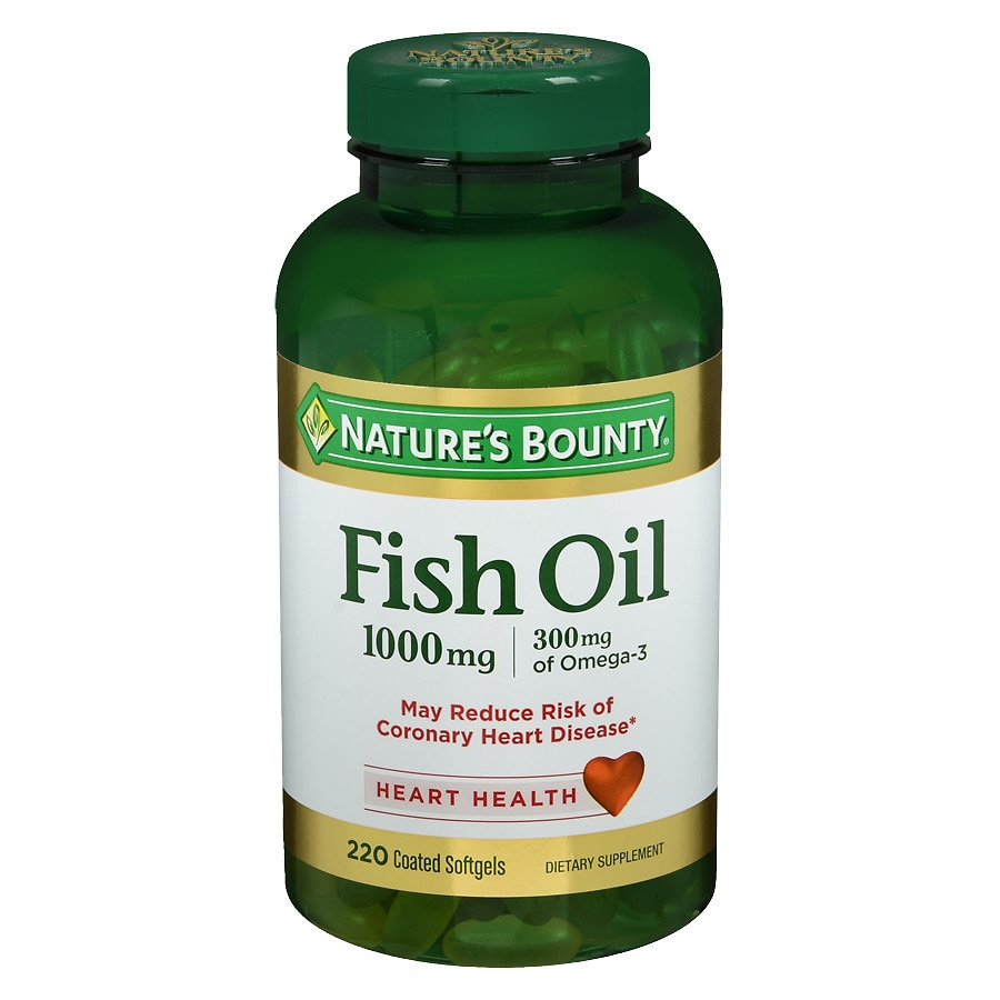 Nature 39 s bounty odorless fish oil 1000 mg dietary for Fish oil pills