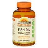 Sundown Naturals Extra Strength Fish Oil, 1200mg, Softgels