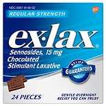 ex-lax Chocolated Stimulant Laxative Pieces Chocolate