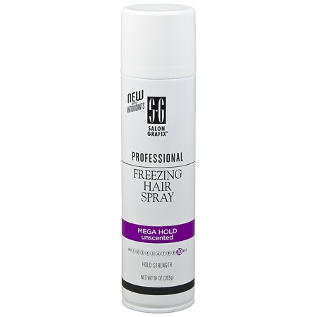 Salon Grafix Professional Freezing Hair Spray Styling Mist Unscented Mega Hold