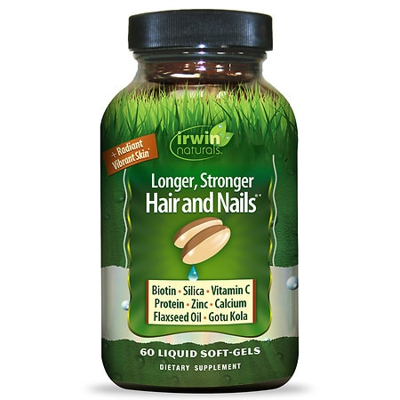 Irwin Naturals Healthy Skin & Hair plus Nails Liquid Softgels - 60 ea