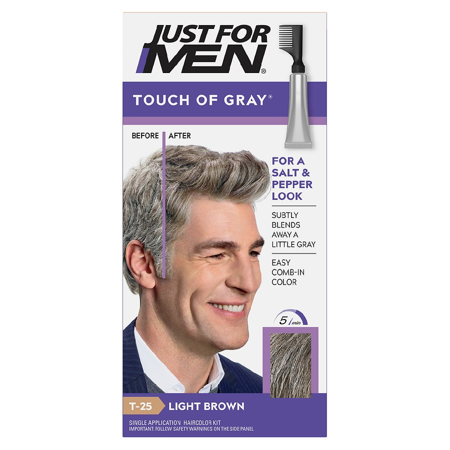 Just For Men Touch Of Gray Haircolorlight Brown Gray T 25 Walgreens