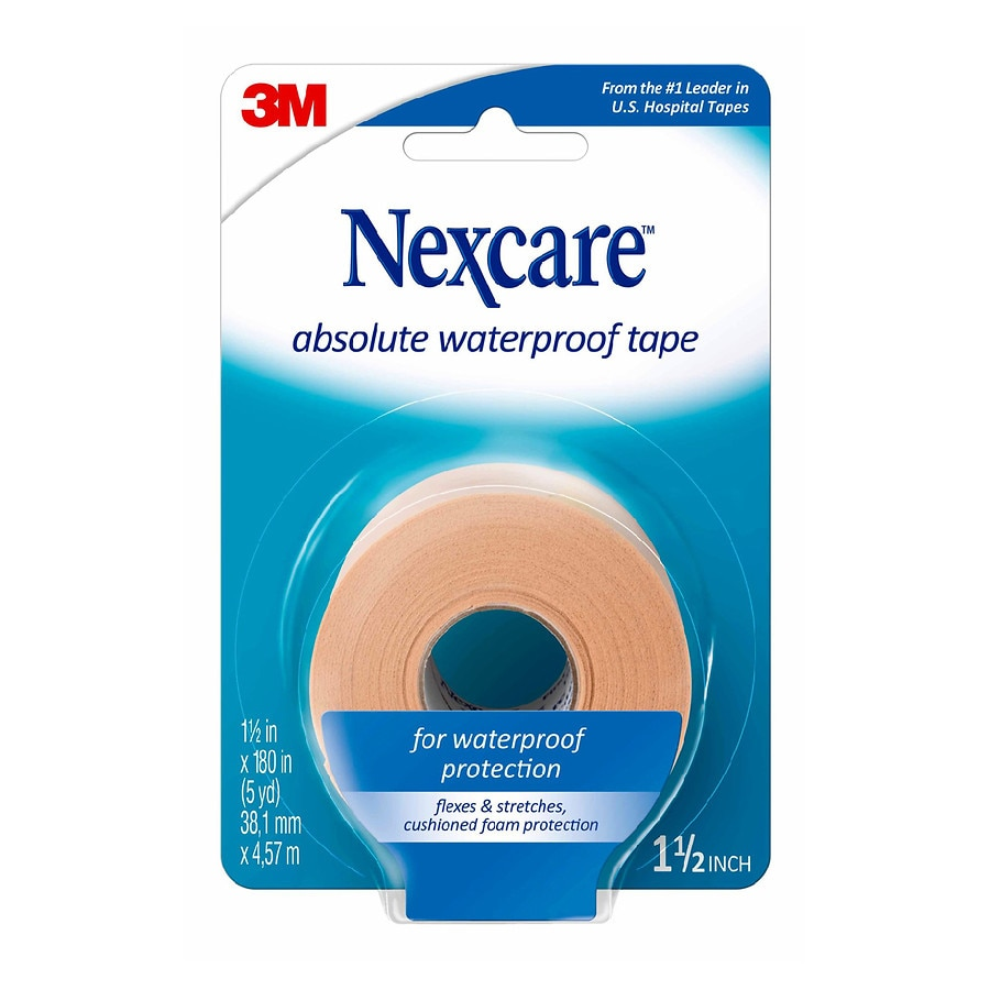 Nexcare Absolute Waterproof Wide Tape 1.5 x 180 inches, 5 yard ...