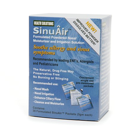 SinuAir Formulated Saline Packets