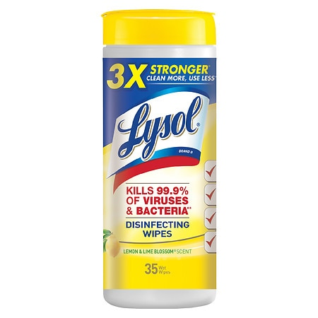 Image of Lysol Disinfecting Wipes Lemon Lime - 35 ea