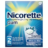 Nicorette Nicotine Gum, 2mg White Ice Mint