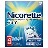 Nicorette Stop Smoking Aid Gum 4 mg White Ice Mint