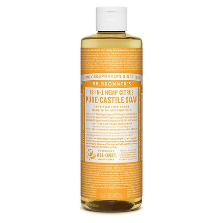 Dr. Bronner's 18-IN-1 Hemp Pure-Castile Soap Organic Citrus Orange - 16 fl oz ShopFest Money Saver