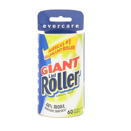 Evercare Giant Lint Roller, 60 Extra Large Sheets, Refill